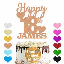 Personalised Glitter Cake Topper Birthday Party Decor Customized Any Name Age