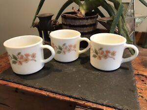 Pyrex Cherry Blossom Mugs X3
