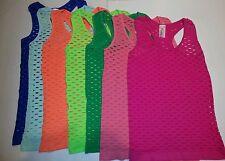 Lot Of 3 New Fishnet Dress/Shirt/Top Jade Green/Mint/Coral