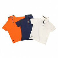 Kids Next Polo T-shirts Colours: Orange Navy Ages: 3 - 10 Years