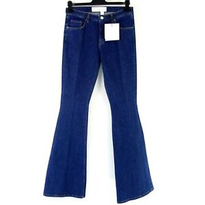 Victoria Beckham Designer Femme Pantalon Jeans Bleu Bootcut Evasée Prix Neuf 265