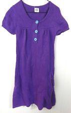 Mini Boden Girls 11-12 Dress Purple Sweater Knit Short Sleeve Button EUC
