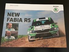 CP POSTCARD CARTOLINA SKODA FABIA R5 FREDDY LOIX RALLYE WRC RALLY
