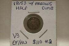 1853 H10C W/ Arrows EF/AU Liberty Seated Half Dime #2