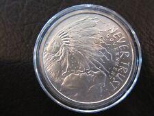 2014 Never Trust Silver Government round - 1 oz .999 Silver Shield in AIRTITE