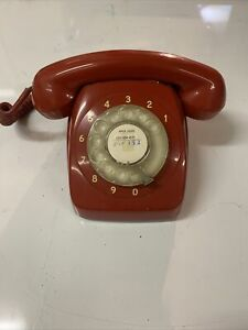 VINTAGE DIAL TELEPHONE STC PMG RED PHONE BATMAN RETRO 801
