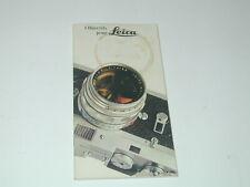LES OBJECTIFS Leica en 1974 catalogue photo photographie