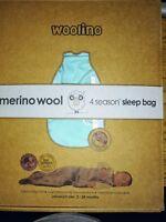 Woolino Baby Sleep Bag, Australian Merino Wool Sleeping Sack 2-24 Months, 4...