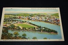 Vtg Postcard Wheeling WV 1 cent Stamp George Washington 1939 Ohio River