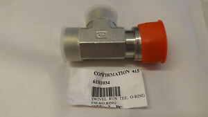 New OEM John Deere Hydraulic Hose Tee Fitting 61H1034 for S670 -COMBINE