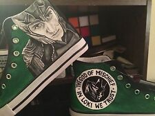 LOKI HAND PAINTED HIGH TOP SHOES CUSTOMISED TO ORDER