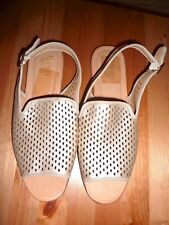 NEW Franco Sarto Valonia Gold Perforated Slingback Sandals 11M