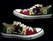 Mexico Flag Print Chucks Low Top Custom Distressed Viva Pride Sneakers Shoes
