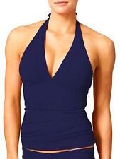 ATHLETA NWT DRESS BLUE SHIRRENDIPITY HALTER  TANKINI SWIM TOP   M