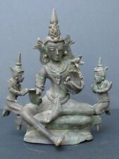 Bouddha et ses Orants en Bronze Birmanie