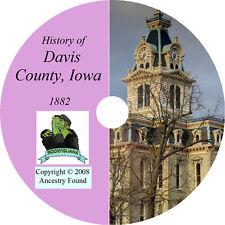 1882 DAVIS County Iowa IA - History & Genealogy - Bloomfield - Ancestry CD DVD