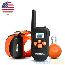 Rechargeable Waterproof Dog Pet Safe Training Shock Collar LED Flasher Blinker