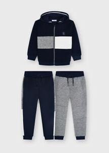 Mayoral Boys 3pc Tracksuit with Zipped Hoodie & 2 Joggers in Navy (04836) Age 2-