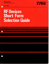 Trw Rf Devices Short Form Selection Guide
