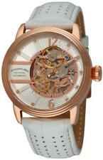 Stuhrling 308A 3345P34 Prospero Classic Skeleton Automatic Rose White Mens Watch