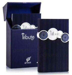 AFNAN TRIBUTE BLUE EAU DE PARFUM SPRAY FOR MEN 3.4 Oz / 100 ml BRAND NEW IN BOX!
