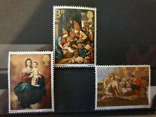 Great Britain 1967 Christmas. 3 stamp set MNH