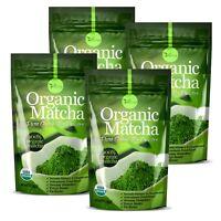 ▶▶ ORGANIC Matcha Green Tea Powder USDA Organic Antioxidant boost 4oz 4 Pack