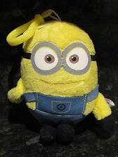 Despicable Me 2 Soft Plush Minion Dave on Clip Keyring Universal Studios