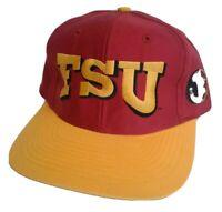 Vintage FSU Snapback Hat Florida State Seminoles Shadow Maroon Pro Style Noles