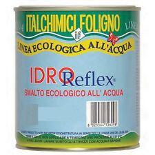 Smalto vernice all'acqua per ferro legno plastica Bianco opaco Idroreflex 2,5 LT