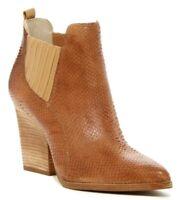 Donald J Pliner Women's Vale Brown Lether Ankle Heels Chelsea Boots! Size 10