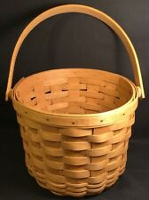 Longaberger Handmade Basket Made In The USA 2003 Round 1 Handle