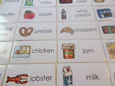 101 Grocery Store Food Laminated Flashcards.  Preschool-2nd Grade Nutrition.