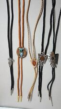 Polished Stone Indian Head Penny #3 Lot Of 5 Bolo Ties Southwest Owl