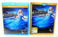 2B BLU-RAY DVD CINDERELLA Disney Live Version w/ Frozen Fever Short Slipcover