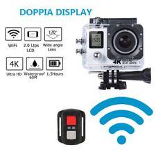 TELECAMERA 4K WIFI ULTRA HD CAM SPORT ACTION CAMERA TELECOMANDO DOPPIO DISPLAY