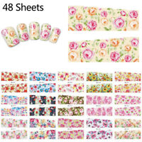 48 Pcs / Set Decal Water Transfer Manicure Nail Art Stickers DIY Tips Decoration