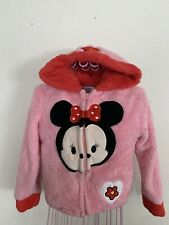 Toddler Girl Disney Tsum Tsum Minnie Mouse Pink Zip-Up Sweater Size 5