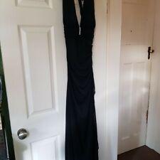 Stunning Black Evening Long Dress From BETSY & ADAM Size 10