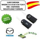 LLAVE FUNDA CARCASA MAZDA 2 3 5 6 CX-5 CX-7 CX-9 BT50 RX8 FLIP 2 BOTONES. ESPAÑA