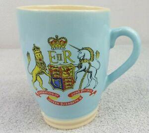 Queen Elizabeth II Coronation Mug 1953 Lovatts Stoneware Langley Mill Pottery