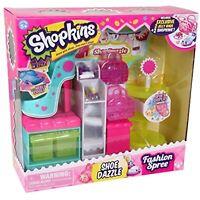 Shopkins Fashion Spree~SHOE DAZZLE~Playset Comes w/ 2 Shopkins & 2 Jelly Bags.