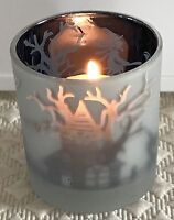 Yankee Candle Flickering Haunted House Votive Holder Halloween Silhouette Rare