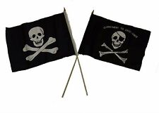 "12x18 12""x18"" Wholesale Combo Pirate No Patch & Commitment Excellence Stick Flag"