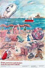 Claes Oldenburg Props Costumes & Designs from Il Corso del Coltello 1986 Poster