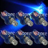 6 LED T5 B8.5D BLU Lampade Lampadine Luci Per Cruscotto Quadro Strumenti W5 12V