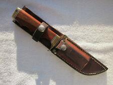 "10"" Hunting Knife TJ Sheehy Juneau AK with 4.5"" handle sheath stone Ultra Rare!"