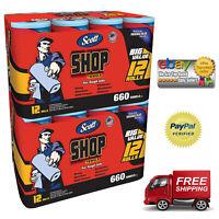 Pack of 2 Scott Blue Original Multi Purpose Paper Shop Towels 24 Rolls 1320 Shee