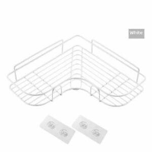 Bathroom Kitchen Punch Corner Frame Shower Shelf Storage Rack Holder Suction Cup