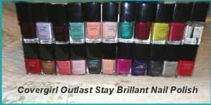 NEW Cover Girl Outlast Stay Brillant Nail Polish Some  Discontinued  You Choose